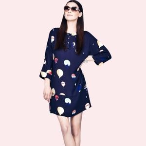 Kate Spade Brie Shift Hot Air Balloon Print Dress